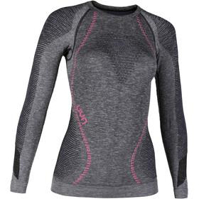 UYN Ambityon Melange UW Koszulka z długim rękawem Kobiety, black melange/purple/raspberry